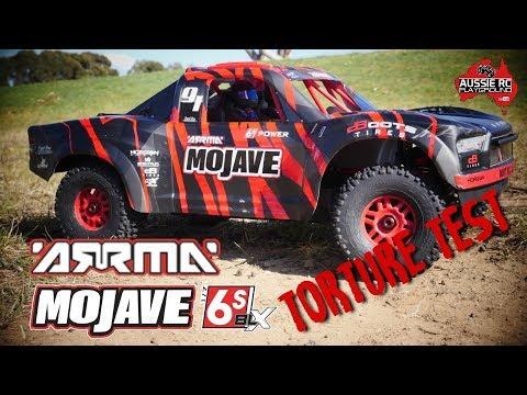 ARRMA Mojave 6S BLX 1/7 Scale Desert Truck Torture Test - 4S & 6S - UCOfR0NE5V7IHhMABstt11kA