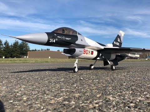 Freewing F-16C Fighting Falcon V2 70mm EDF 6s Maiden Flights! - UCLqx43LM26ksQ_THrEZ7AcQ