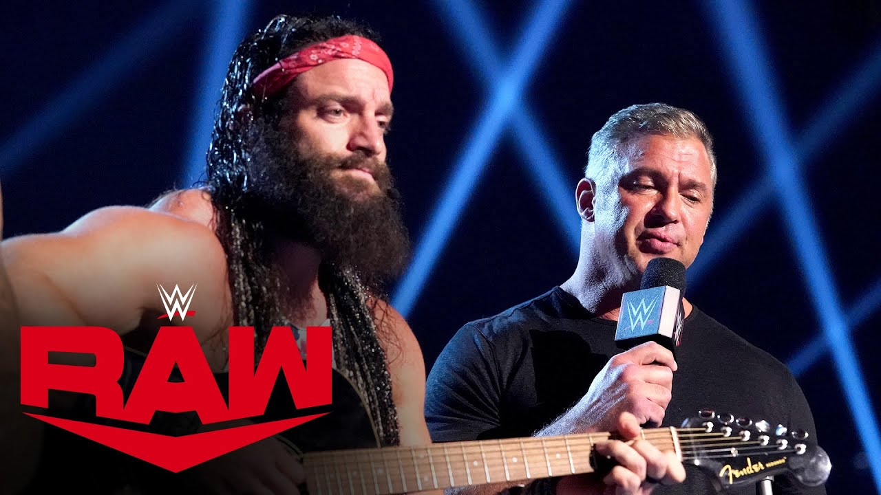 Shane McMahon & Elias perform a special duet: Raw, Mar. 22, 2021