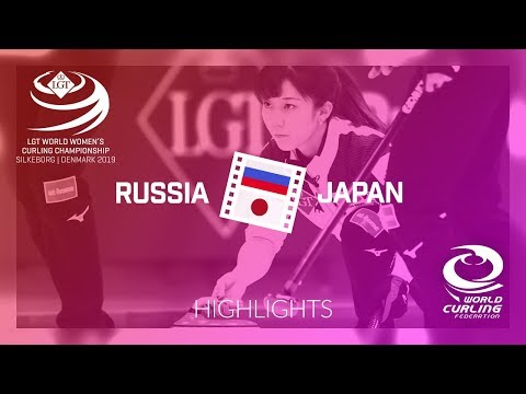 HIGHLIGHTS: Japan v Russia - qualification - LGT World Women's Curling Championship 2019
