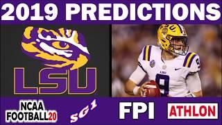 LSU 2019 Football Predictions - Comparing Sources