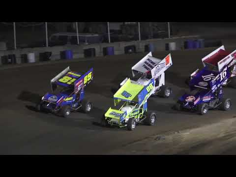 Great Lakes Super Sprints A-Feature at Crystal Motor Speedway, Michigan on 07-03-2021!! - dirt track racing video image