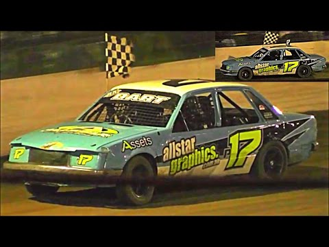 Standard Saloons Final Southern 500 Speedway Portland 2-1-2017 - dirt track racing video image