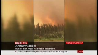 Weather Events 2019 - Unprecedented wild fires rage (Arctic) - BBC News - 26th July 2019