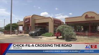 Temple Chick-Fil-A crosses the road