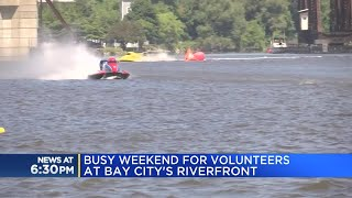Busy weekend for volunteers at Bay City's riverfront