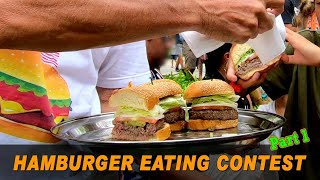 Part 1 | Wolfgang's Steakhouse a New Independence Day Tradition with a Hamburger Eating Contest 2019