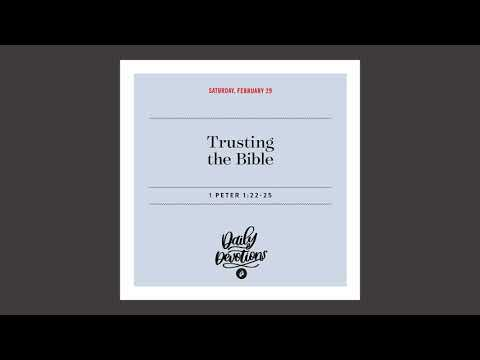 Trusting in the Bible - Daily Devotion