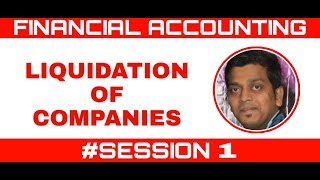 LIQUIDATION OF COMPANIES | FINANCIAL ACCOUNT