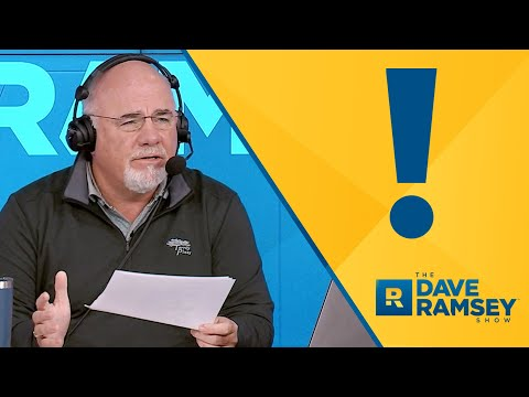 This Is Really Disturbing... - Dave Ramsey Rant