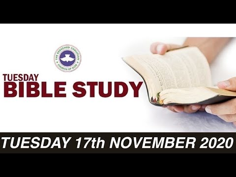 RCCG NOVEMBER 17th 2020 BIBLE STUDY  NEVER PLANT THE SEED OF DISCORD