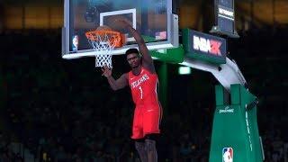 NBA 2K19 - CRAZY DUNK CONTEST! - ZION WILLIAMSON, DONOVAN MITCHELL, DENNIS SMITH JR.!