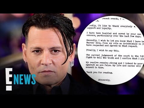 Johnny Depp Resigns From