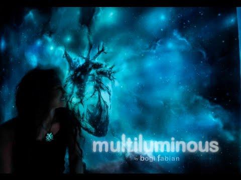 Multiluminous 3-in-1 glow in the dark prints