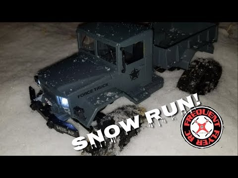 Fayee Snow Tire Military Truck - First Snow Run  - UCNUx9bQyEI0k6CQpo4TaNAw