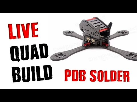 🔴 LIVE: QuadCopter Build | GEP-225 Drone Soldering PDB Connections - UCTo55-kBvyy5Y1X_DTgrTOQ