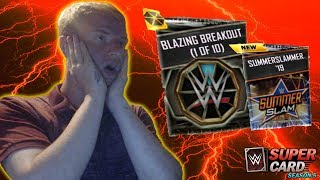 OPENING ALL 10 OF THE BLAZING BREAKOUT PACKS + WILD WEDNESDAY - WWE SUPERCARD