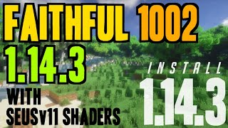 How to get Faithful Textures in Minecraft 1.14.3 - download & install Faithful 1002 1.14.3 +shaders