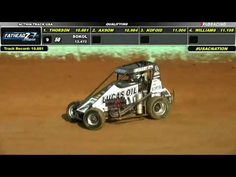 LIVE: USAC Midget Qualifying   USAC Eastern Midget Week at Action Track USA - dirt track racing video image