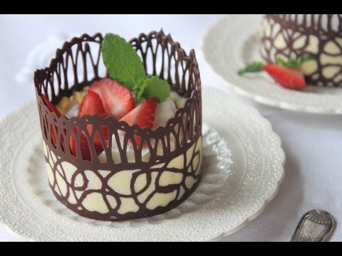 How to Make Chocolate Lace Dessert Cups - UCVI1akTqzr_DYKFGCV4dacA