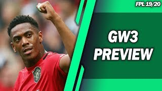 GW3 PREVIEW! PUKKI & MARTIAL IN! TIPS! FPL 2019/20