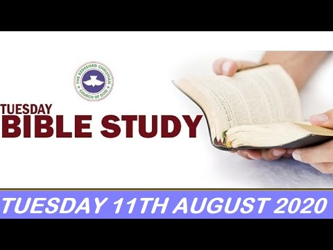 RCCG AUGUST 11TH 2020 BIBLE STUDY  FROM DRYNESS TO OPEN HEAVENS