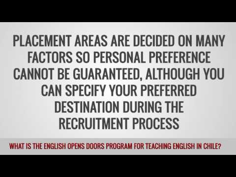 video abouth the program called english opens doors for TEFL teachers in chile