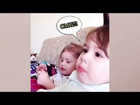 Try Not To Laugh   Funny Babies Reactions Watching Television