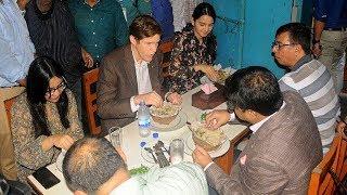 পুরান ঢাকার বিরিয়ানি-বাখরখানি খেলেন মার্কিন রাষ্ট্রদূত | BanglaVisaion News