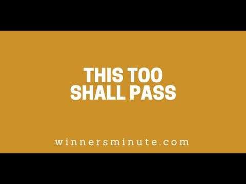 This Too Shall Pass // The Winner's Minute With Mac Hammond