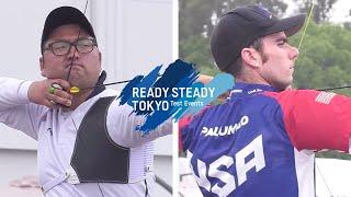 Kim Woojin v Timothy Palumbo – recurve men 1st round | Tokyo 2020 Olympic Test