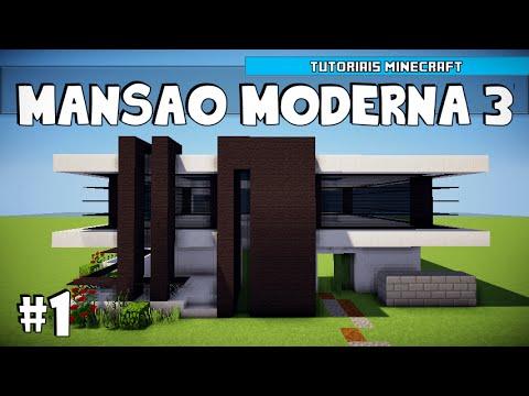Youtube minecraft como construir uma mans o moderna 3 for Casa moderna minecraft 0 10 4