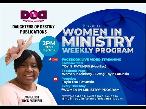 WOMEN IN MINISTRY WEEKLY PROGRAM -ABIDE IN YOUR CALLING PT 3 (STAY CONNECTED)