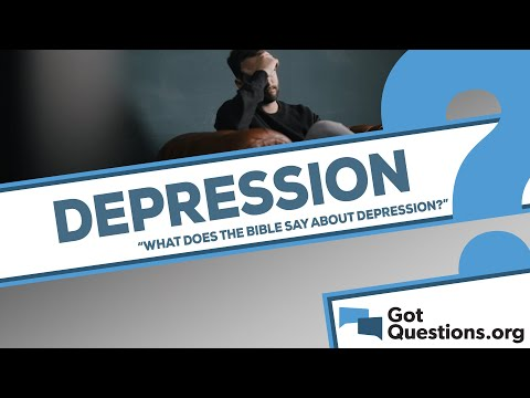 What does the Bible say about depression?