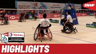 Total BWF Para-Badminton World Championships 2019. Day four, afternoon wheelchair highlight