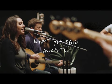 Jon Egan - What You Said (Official Acoustic Video)