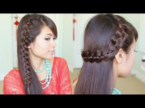 Unique 4 Strand Lace Braid Hairstyle For Long Hair Tutorial | F Sport.lt