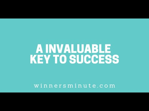 A Invaluable Key to Success // The Winner's Minute With Mac Hammond