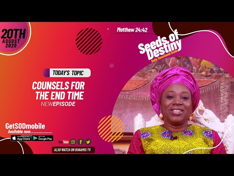 Dr Becky Paul-Enenche - SEEDS OF DESTINY - THURSDAY AUGUST 20, 2020