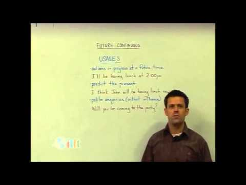 English Grammar - Future continuous - Structure - Teach English TESOL
