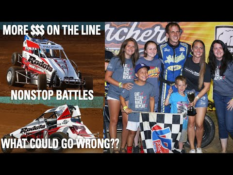 Flips And Wins At Action Track USA   Dick Tobias Classic - dirt track racing video image