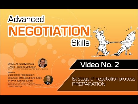 Advanced Negotiation Skills - Video No.: 2
