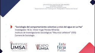 Crisis del agua en La Paz Víctor - Hugo Perales Miranda