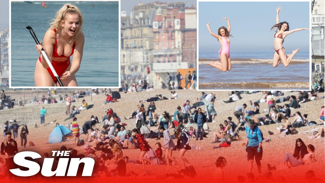 Hottest UK day in March since 1968 as Brits flock to the coast in 24C scorching weather