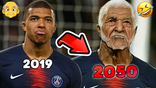 Footballers Age Challenge! 👴 Old Ronaldo, Messi, Mbappe, Neymar... FaceApp