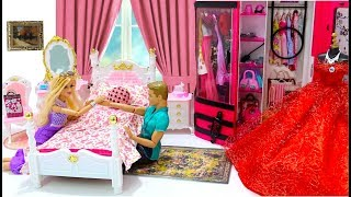 Barbie and Ken One Day Morning Pink Bedroom Bathroom pincelmation