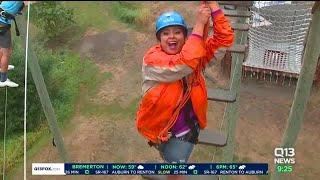 Ellen Tailor visits Adventura Adventure Park in Woodinville