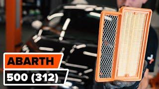 Come sostituire il filtro aria su Fiat 500 Abarth (312)