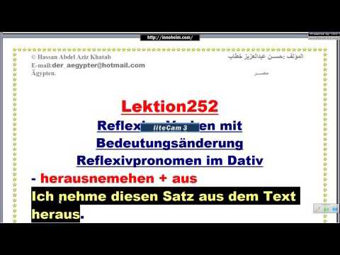 Lektion252 الأفعال-أفعال يتغير معناها عندما تنعكس-تعليم اللغة الألمانية