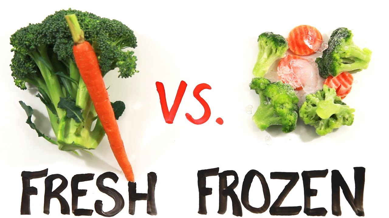 fresh food vs canned or frozen